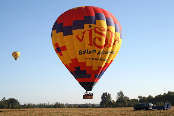 Vista balloon in flight