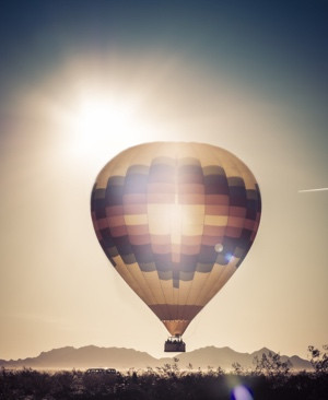 Balloon ride adventure morning sunrise